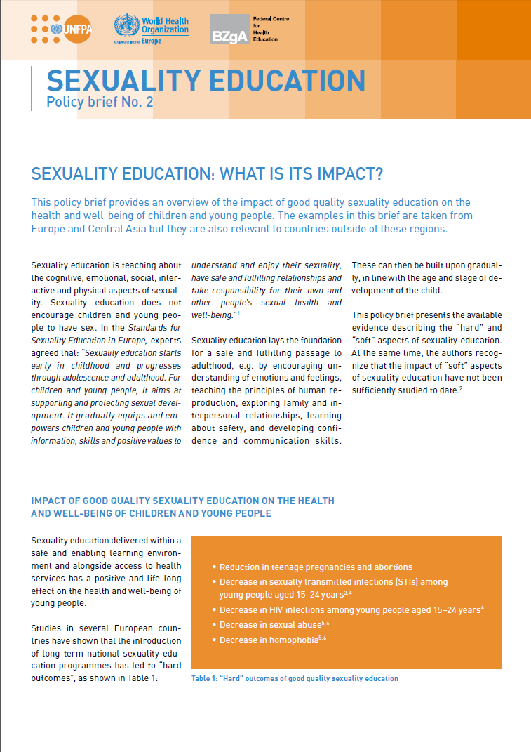 sexual education its worth the Also available in format accurate, balanced sex education – including information about contraception and condoms – is a basic human right of youth.